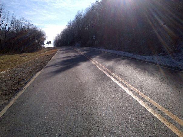 slanty road